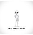 Alien poster vector image vector image