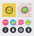 business signs human and lamp bulb idea icons vector image vector image