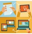 web design process vector image