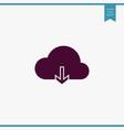 Cloud computing icon simple vector image