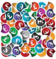 currency stickers vector image vector image