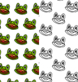 cartoon frog seamless pattern designs vector image