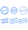 Mobile stamps vector image vector image