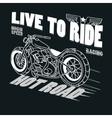 Motorcycle Racing Typography Graphics T-shirt vector image vector image