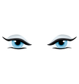 blue womens charming eyes on a white background vector image