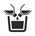 liquid pour icon vector image vector image