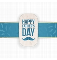Happy Fathers Day festive Card Template vector image