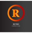R Letter logo abstract design vector image
