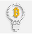 bitcoin grow gears vector image