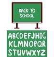 blackboard and alphabet vector image