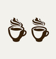 cafe coffeehouse logo or symbol coffee cup vector image