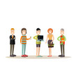 creative team people in flat vector image