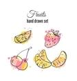 fruit Set of hand drawn fresh vector image