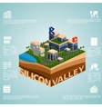 Isometry Silicon Valley vector image