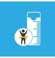 lose weight concept tape measure icon vector image