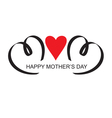 moms day headline with heart handmade calligraphy vector image