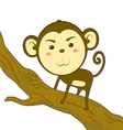 Monkey climb vector image