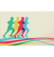 Running people silhouette concept background vector image