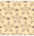 Seamless pattern with starfish and coral vector image