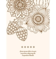 Vintage card with detailed hand drawn flowers and vector image