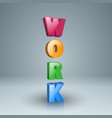 work icon on the grey background vector image