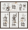 utensils for drinking coffee vector image vector image