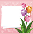 happy mothers day card flowers ornament empty vector image