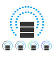 database sphere shield flat icon vector image