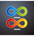 Colorful Abstract infinity symbols vector image vector image