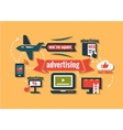 flat advertising icons set vector image vector image