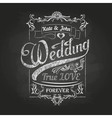 Chalk drawing Wedding decorations vector image