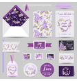 Set of Wedding Stationary vector image
