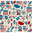 American design seamless pattern Independence day vector image