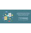 Email marketing banner vector image