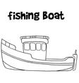 Fishing boat of art vector image