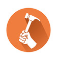 hand with hammer vector image