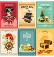 Pirate flat icons composition poster vector image
