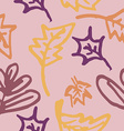 autumn leaves seamless pattern vector image