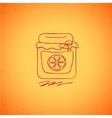 Orange jam doodle on color background vector image vector image