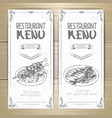 set of restaurant menu hand drawn banners vector image vector image