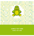 turtle card vector image