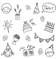 Cute doodle birthday for kids vector image