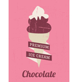 Chocolate Ice Cream Poster vector image