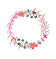 Hand drawn floral wreath vector image