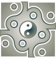 Jing Jang theme vector image