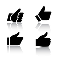 Like icons with reflection set 1 vector image