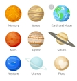 Planets of the solar system vector image