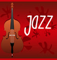 violoncello on a red background and the vector image