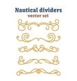 Dividers set Nautical ropes Decorative vector image