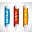 Feedback Tags vector image vector image
